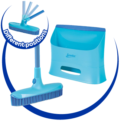 Catch and Clean Rubber Broom and Dustpan Set