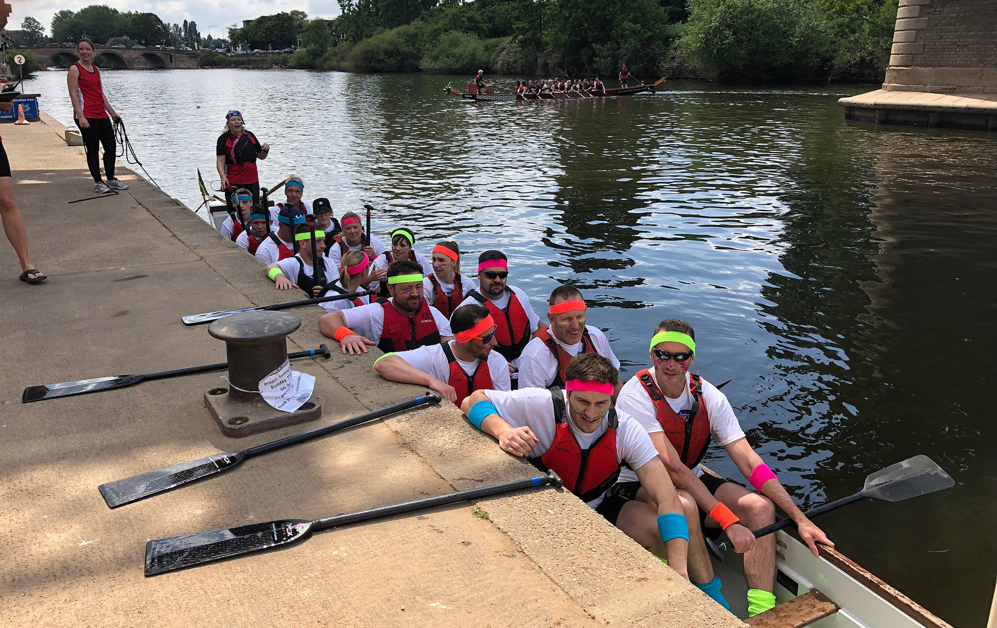 The Oars of Spontex Team 2019 in the Dragon boat