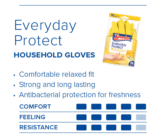 Spontex Gloves Guide Everyday Protect Gloves