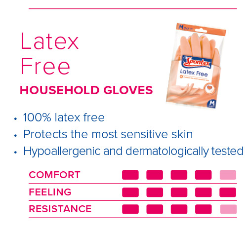 Spontex Gloves Guide Latex Free Gloves