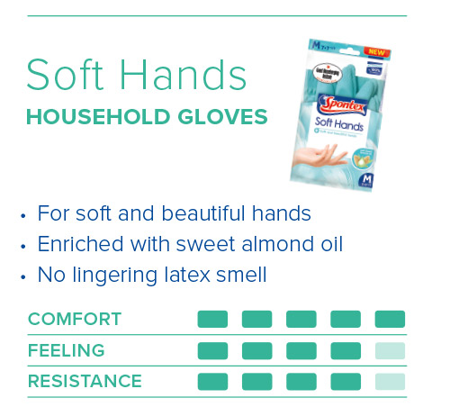 Spontex Gloves Guide Soft Hands Gloves