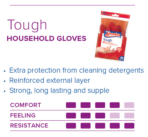 Spontex Gloves Guide Tough Gloves
