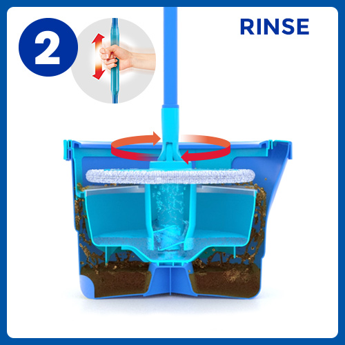 Aqua Revolution System Mop and Bucket Instructional Picto 2