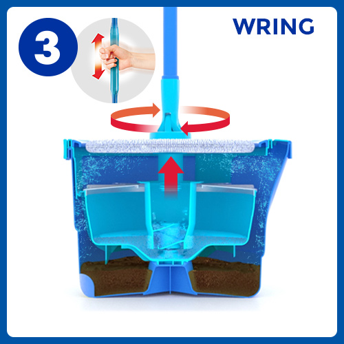 Aqua Revolution System Mop and Bucket Instructional Picto 3