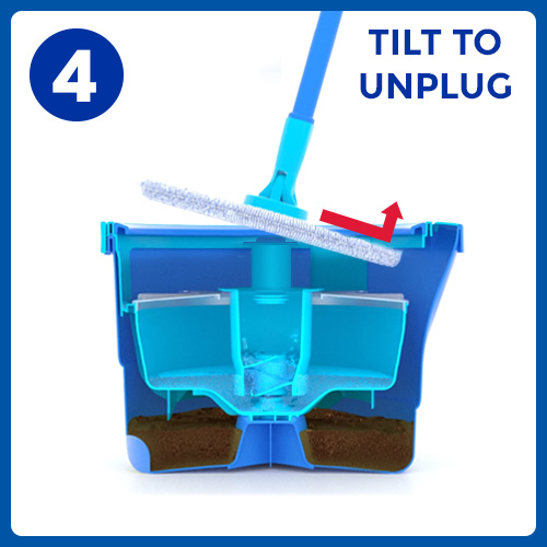 Aqua Revolution System Mop and Bucket Instructional Picto 4