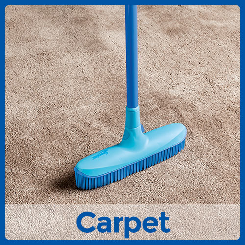 Catch and Clean Rubber Broom and Dustpan Set Instructional Image Position 1 Carpet