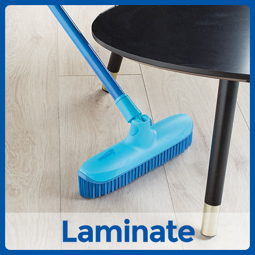 Catch and Clean Rubber Broom and Dustpan Set Instructional Image Position 3 Laminate