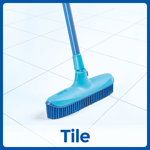 Catch and Clean Rubber Broom and Dustpan Set Instructional Image Position 2 Tile
