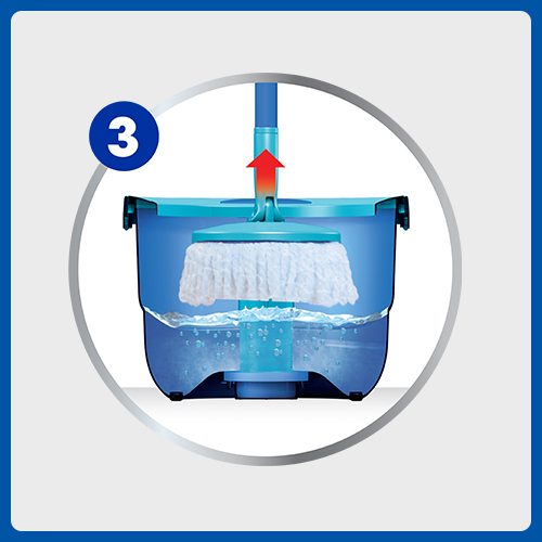 Full Action System Mop and Bucket Instructional Picto 3