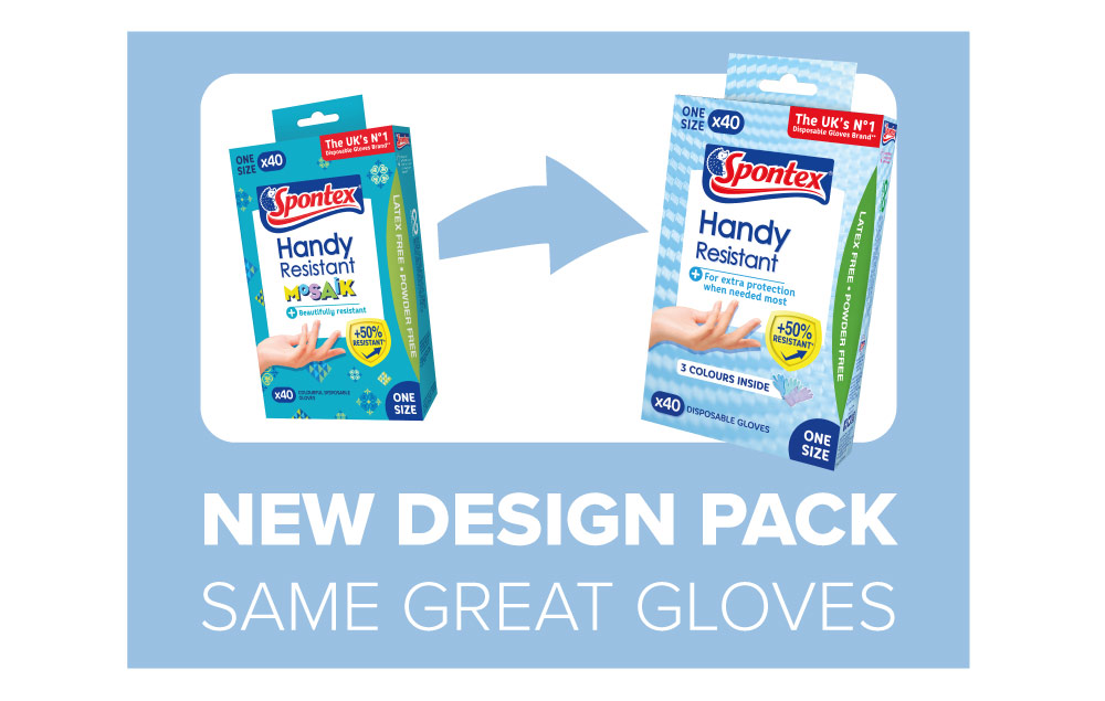 Handy Resistant Disposable Gloves New Design Banner