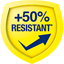 50% More Resistant