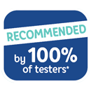Recommended by 100% Of Testers