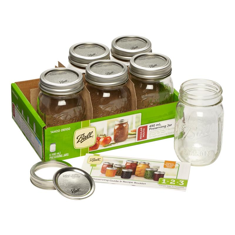 Ball Regular Mouth 490 mL Preserving Jars