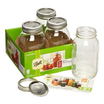 Ball Regular Mouth 945 mL Preserving Jars