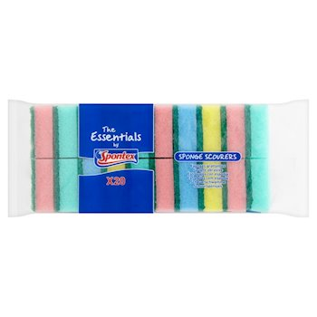 Essentials Sponge Scourers 20 pack